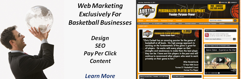 Basketball Web Design and Marketing